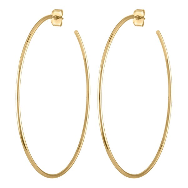 """2.5"""" Classic Gold Hoops"""