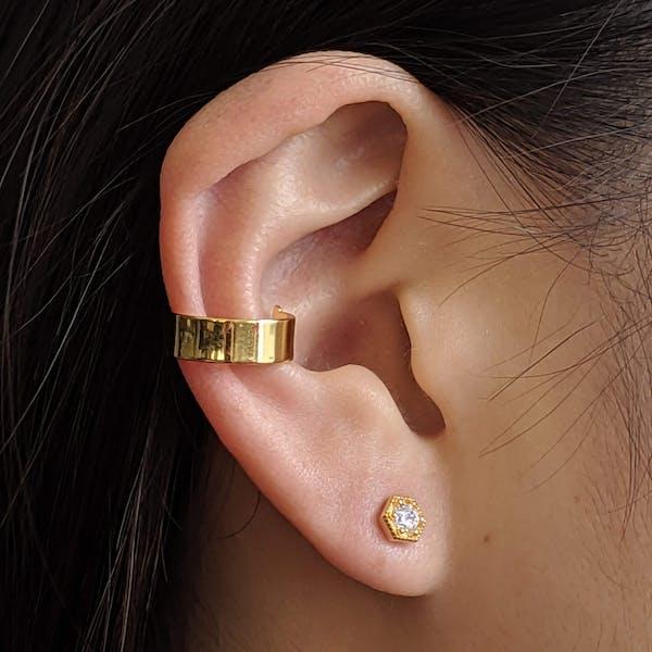 Architect Ear Cuff on model