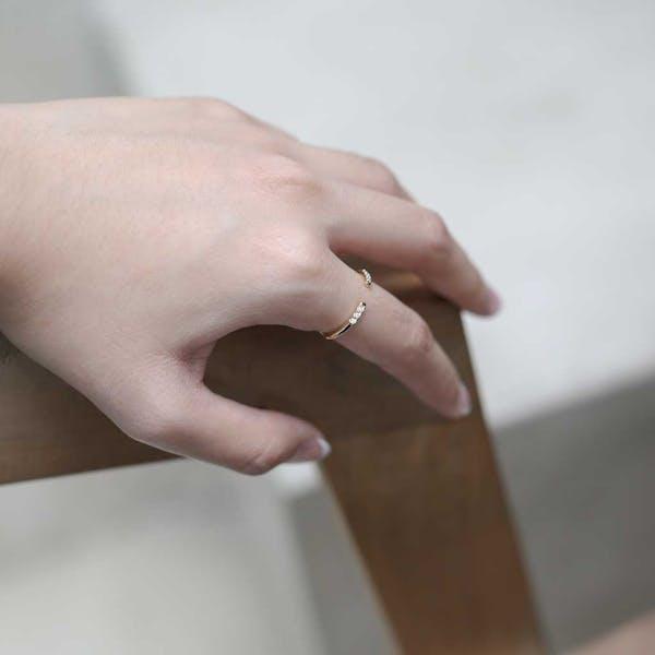 Ariel Ring in Gold on model