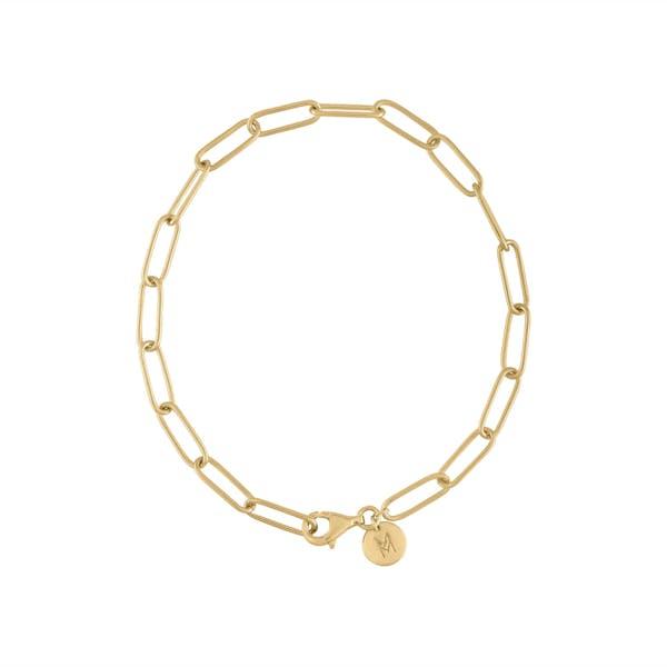 Boyfriend Bracelet in Gold Vermeil