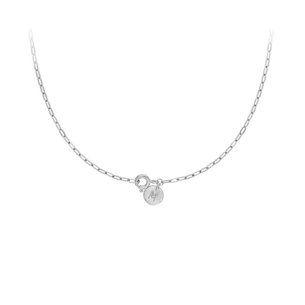 Boyfriend Necklace in Sterling Silver Clasp
