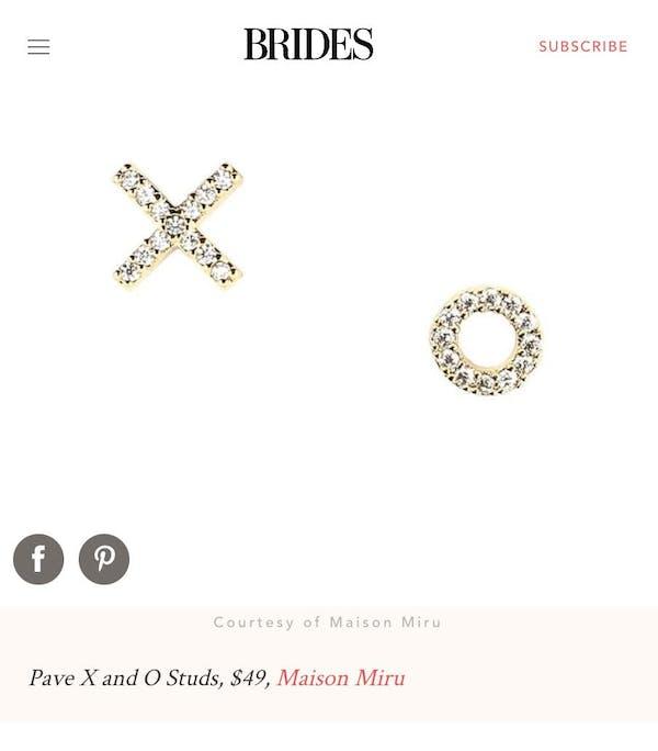 Pave X and O Studs at Maison Miru Jewelry @maisonmiru