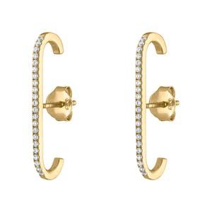 Celestial Suspender Earrings in Gold Vermeil