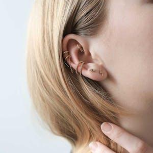 Infinite Ear Cuff on model