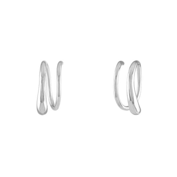 Classic Twirl Earrings in Sterling Silver