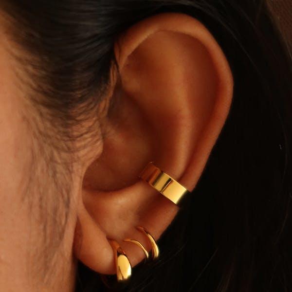 Classic Twirl Earrings on model
