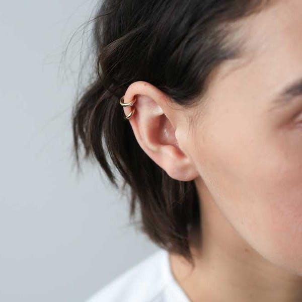 Shooting Star Ear Cuff on model