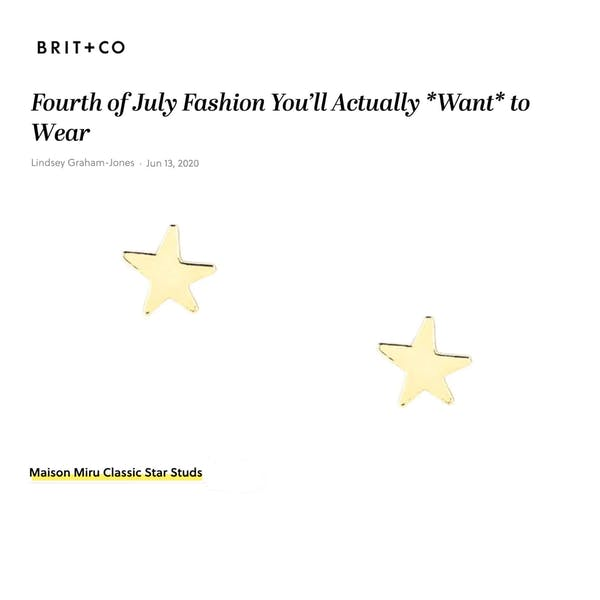 Our Classic Star Studs as seen on Brit + Co