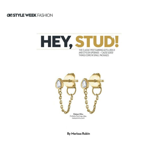 Colette Earrings as seen in OK! Magazine