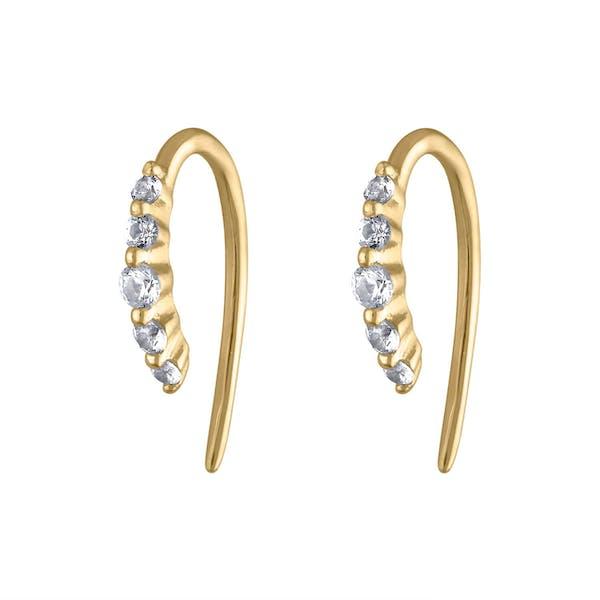 Comet Huggie Earrings in 14K Gold