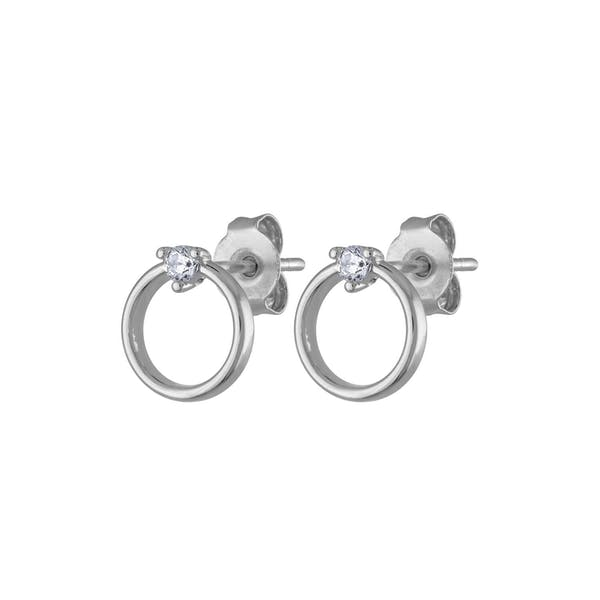 Crystal Orbit Studs in Sterling Silver