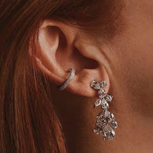 Daphne Earrings on model