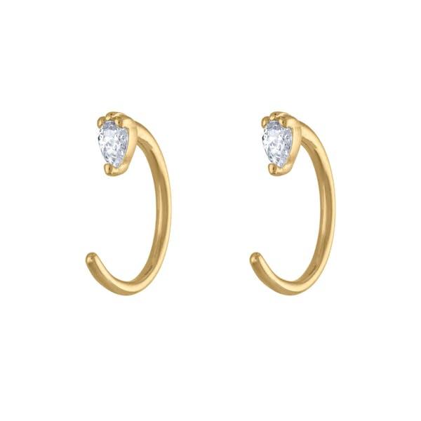 Dewdrop Huggie Earrings