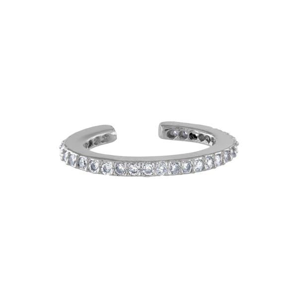Eternity Ear Cuff in Sterling Silver