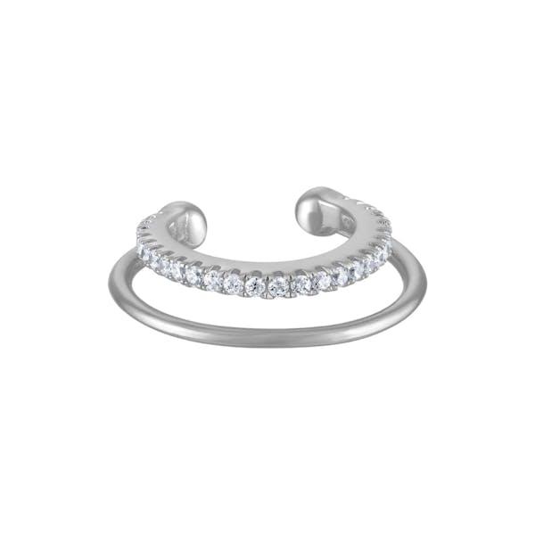 Eternity Echo Ear Cuff in Sterling Silver