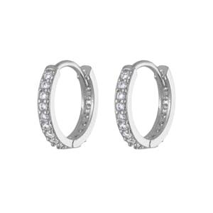 Eternity Hoop Earrings in Sterling Silver