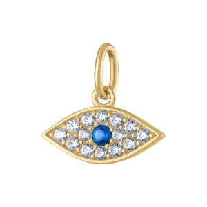 Evil Eye Charm in Gold Vermeil