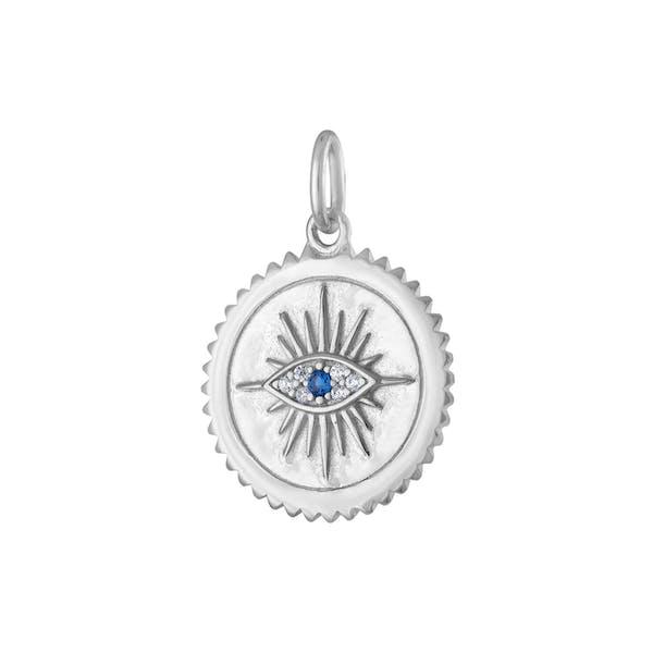 Evil Eye Medallion in Sterling Silver