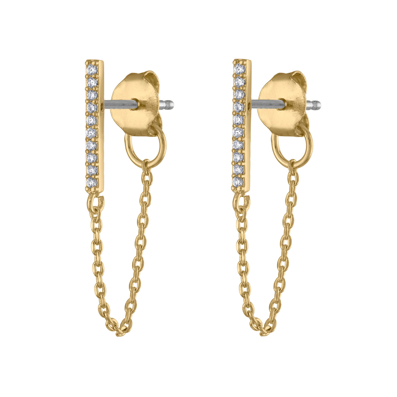 North Star Dainty Chain Drop Earrings