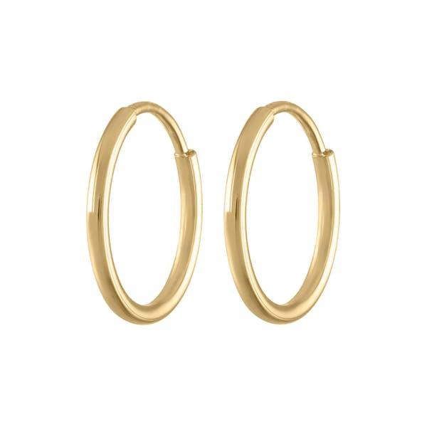 Mini Forever Hoops in 14k Gold