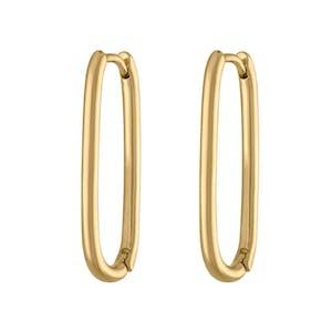 Halo Oval Hoop Earrings