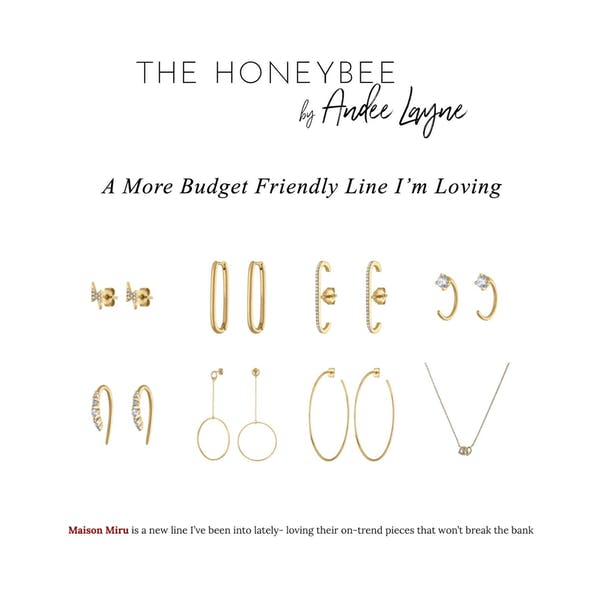 Halo Oval Hoop Earrings as seen on The Honeybee by Andee Layne