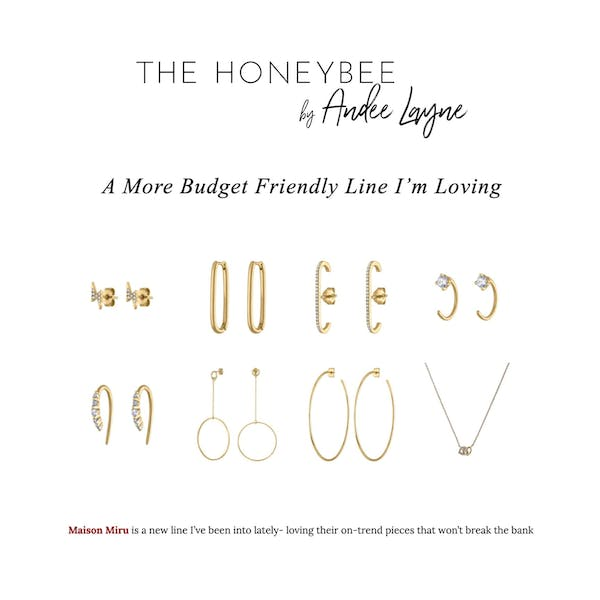 Pave Lightning Studs as seen on The Honeybee by Andee Layne