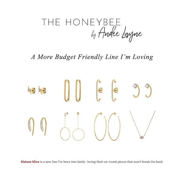 Comet Huggie Earrings in 14k Gold as seen on The Honeybee by Andee Layne