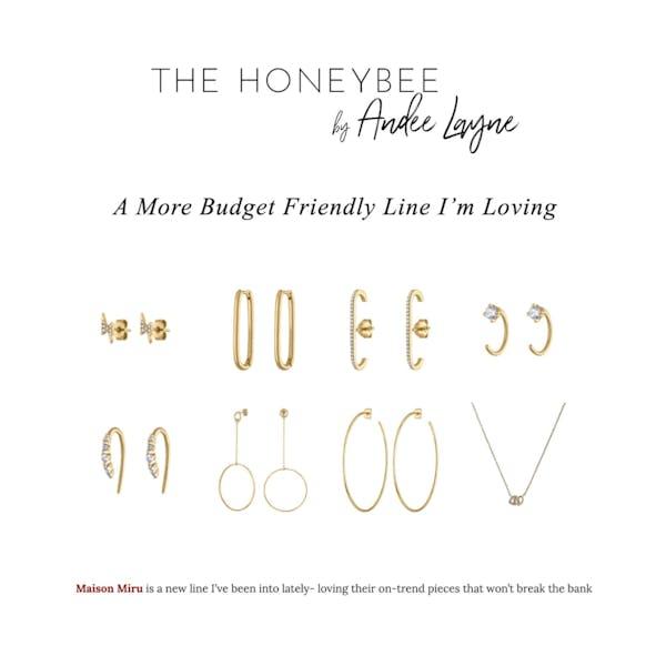 Crystal Huggie Earrings as seen on The Honeybee by Andee Layne