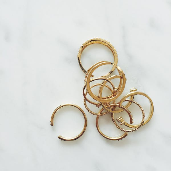 Anja Ring - our delicate open ring with twin inset crystals - Maison Miru Jewelry @maisonmiru