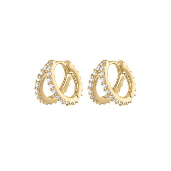 Infinite Huggie Earrings