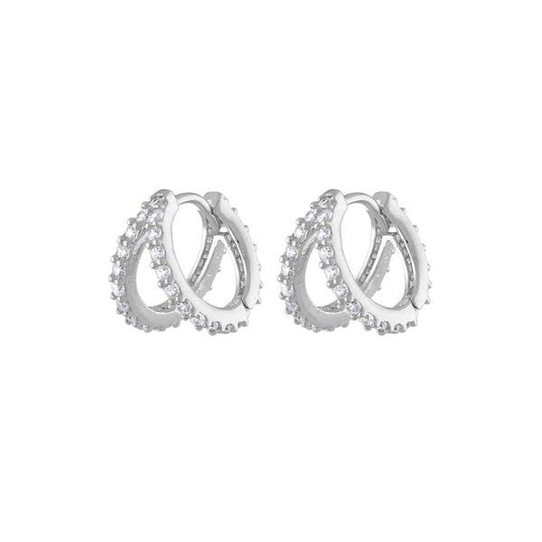 Infinite Huggie Earrings in Sterling Silver