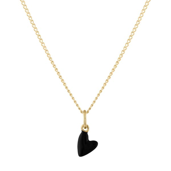 Black Heart Charm Necklace
