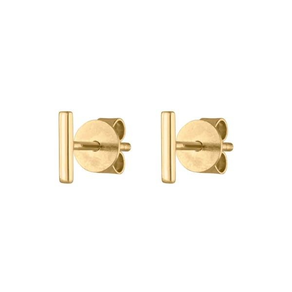 Little Bar Studs in 14k Gold