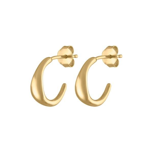 Luna Hoop Earrings in Gold Vermeil