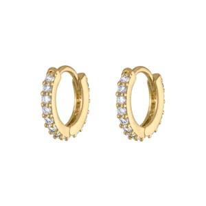 Mini Eternity Hoop Earrings