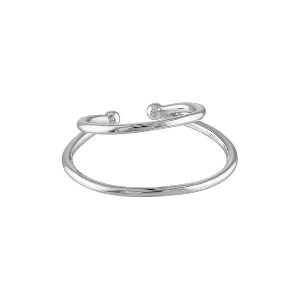 Modernist Ear Cuff in Sterling Silver
