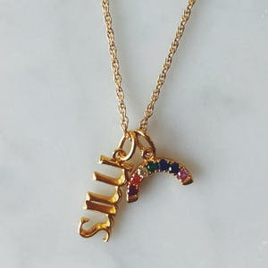 Mrs. Charm in Gold Vermeil on Necklace