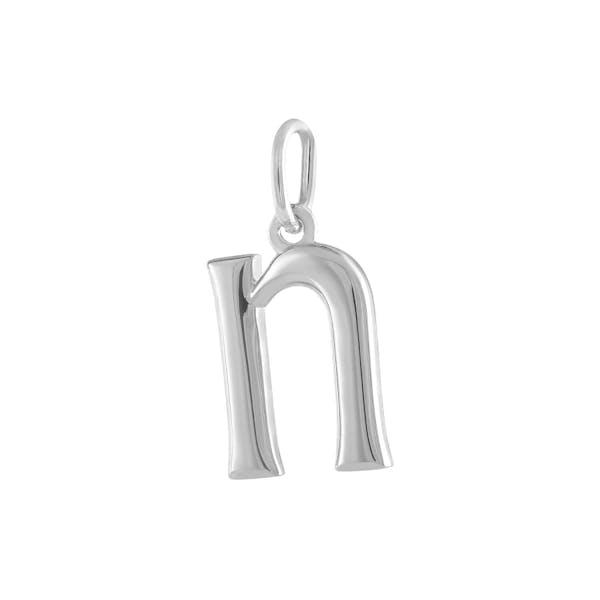 """N"" Charm in Sterling Silver"