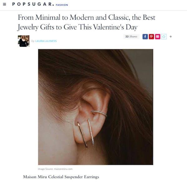 Celestial Suspender Earrings on Popsugar