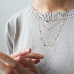 Zelda Necklace in Gold on model