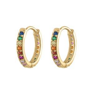 Rainbow Eternity Hoop Earrings