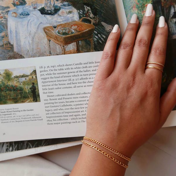 Poet bracelet on model
