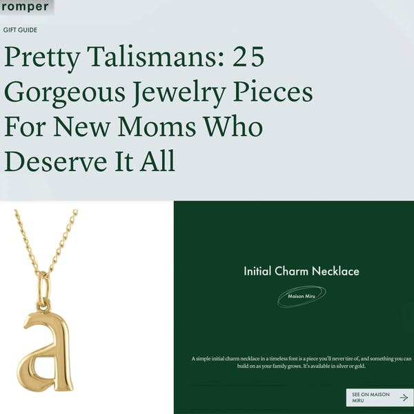 Our Initial Charm Necklace as seen on Romper