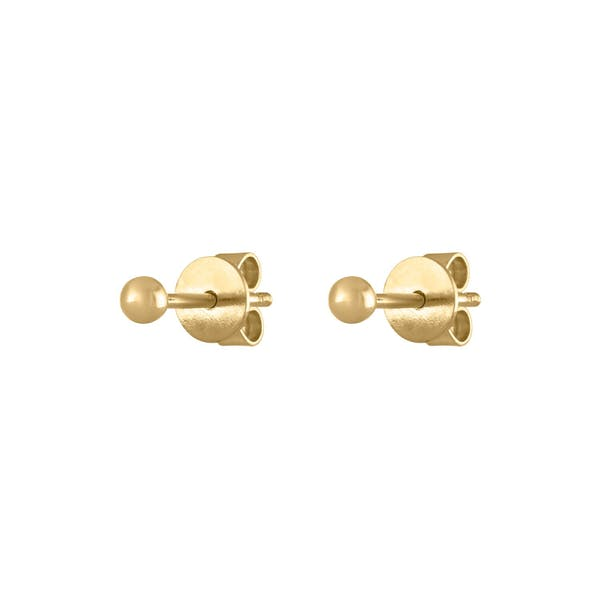 Solid Sphere Studs in 14K Gold