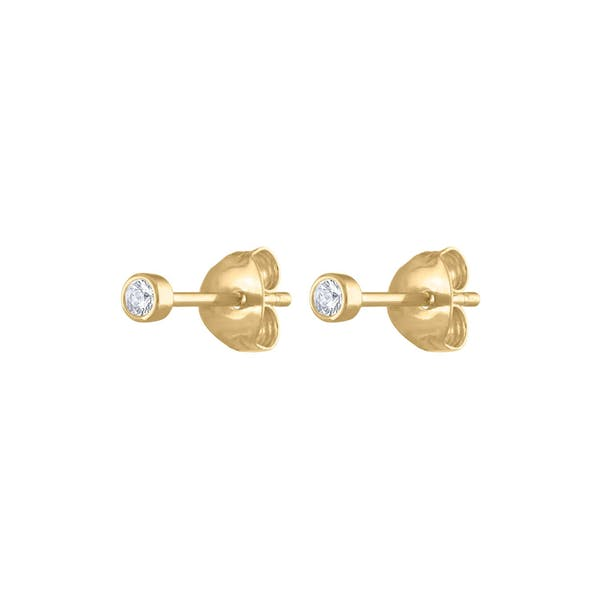 Tiny Sapphire Studs in 14k Gold