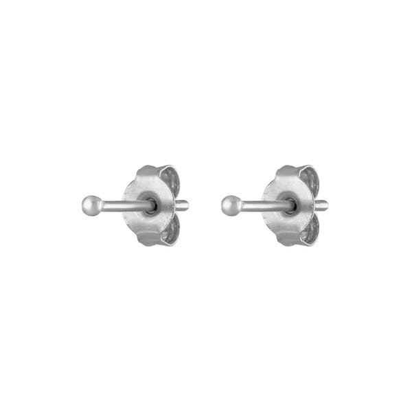 Tiny Secret Studs in Sterling Silver
