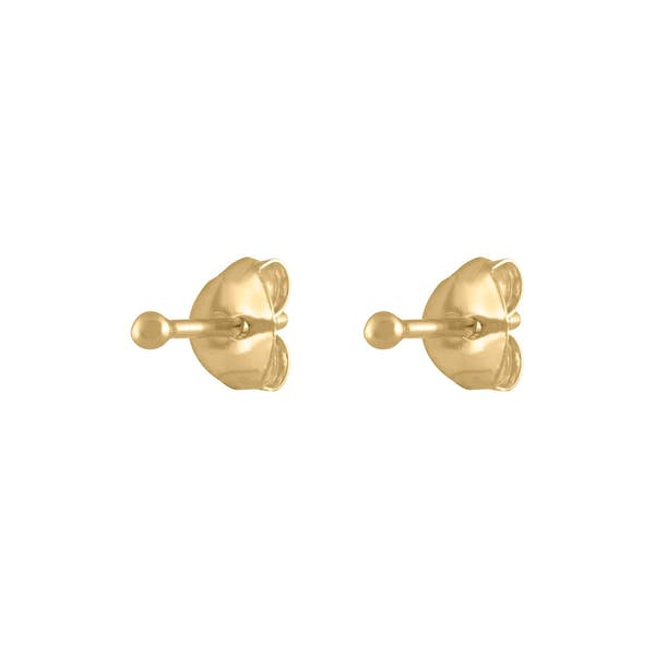 Tiny Secret Studs in 14k Gold