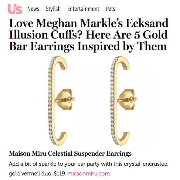 Celestial Suspender Earrings as seen on US