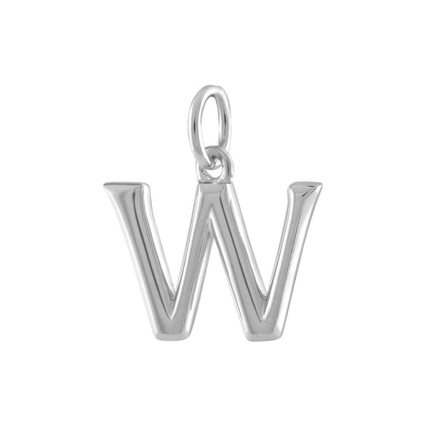 """W"" Charm in Sterling Silver"
